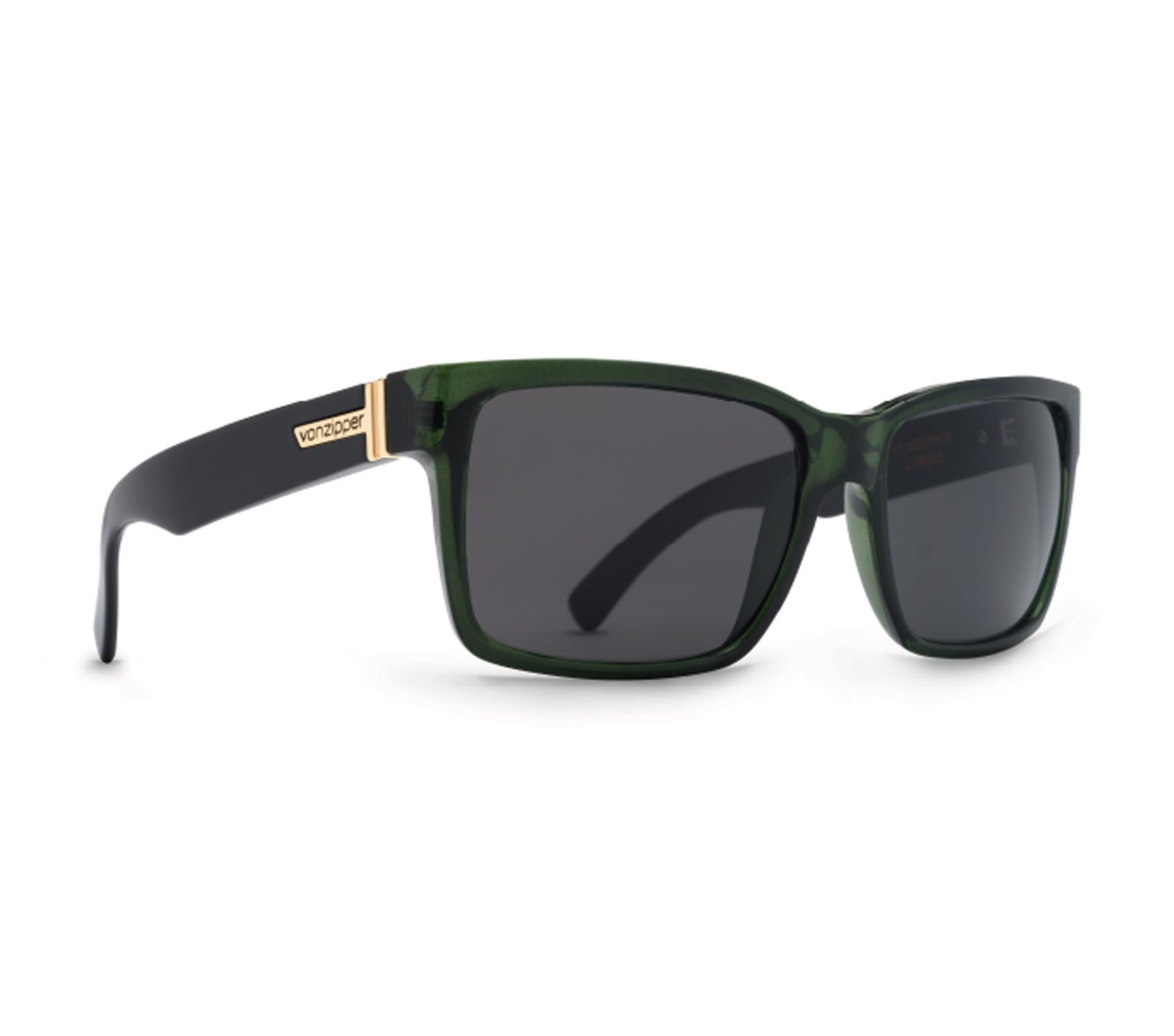 Product image of VonZipper Elmore Sunglasses-Bottle Green Black Crystal - New Grey Lens