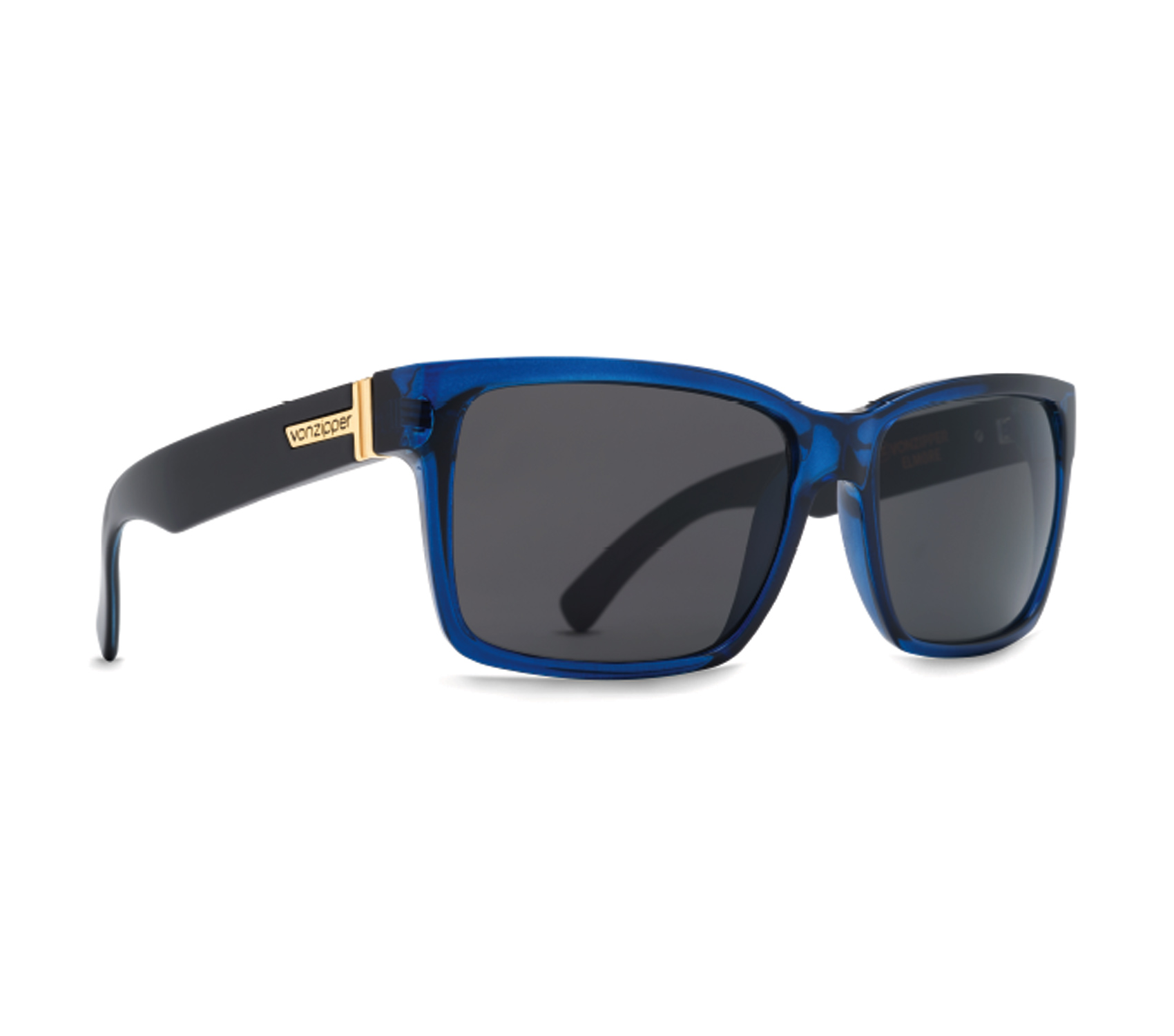 Product image of VonZipper Elmore Sunglasses in Slate Crystal - Grey Lens