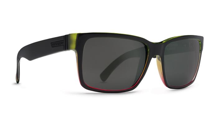Product image of VonZipper Elmore Sunglasses-Vibrations Black Satin - Vintage Grey Lens