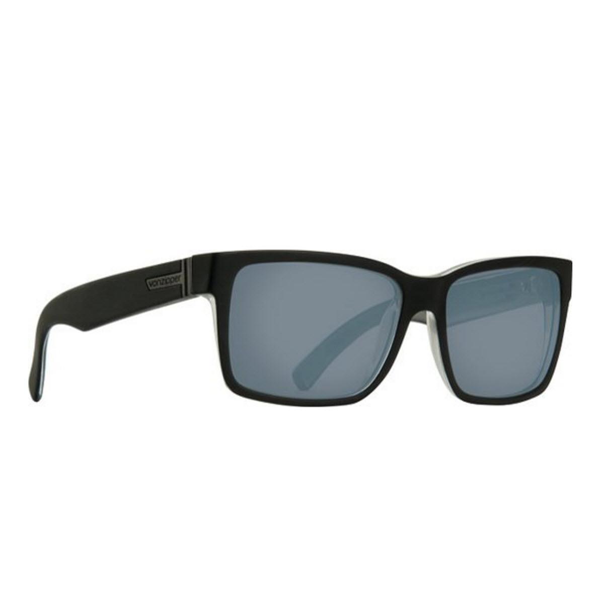 Product image of VonZipper Elmore Sunglasses in Black Satin - Grey Chrome Lens