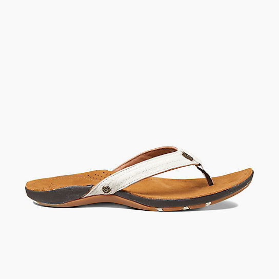 Perfect Reef Womens Sandal - Cushion Luna - Flip Flop Summer Beach Leather Brown | EBay
