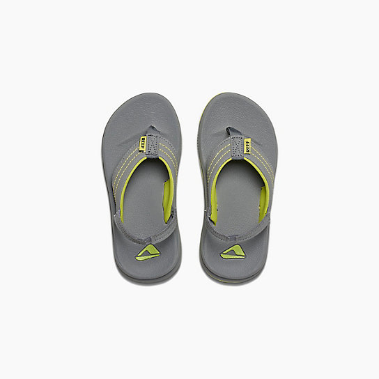 Reef Kids Sandals - Grom Phantom - Grey, Green, Youth & Toddler Flip Flops