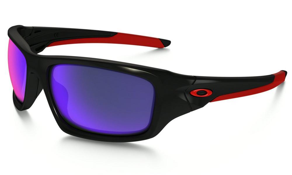 Oakley Valve Sunglasses in Polished Black with Positive Red Iridium Lens