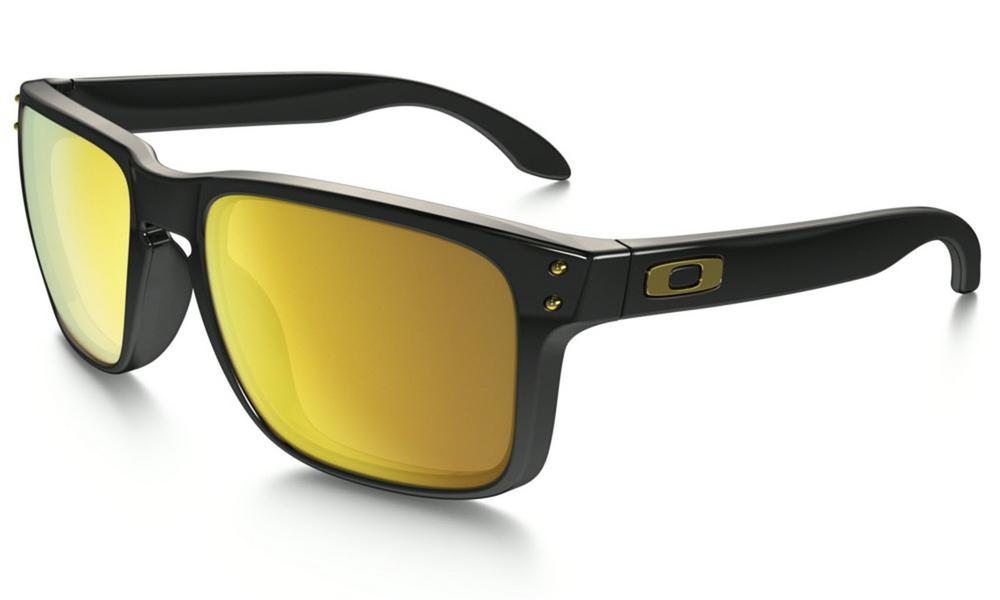 Oakley Holbrook Sunglasses in Polished Black with 24K Iridium Lens