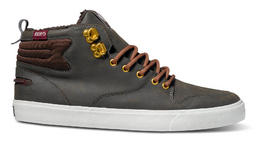 DVS Elm Skate Shoes in Brown PU