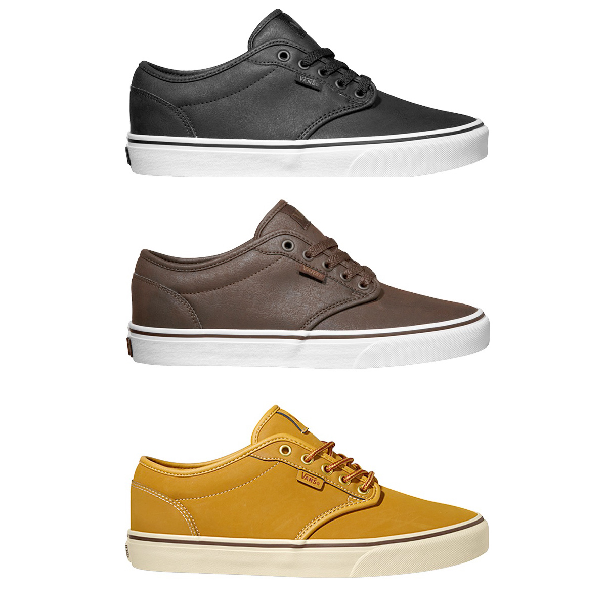 vans mens shoes atwood buck leather skate trainers