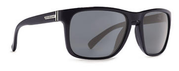 VonZipper Lomax Sunglasses in Black Satin - Grey Chrome Lens