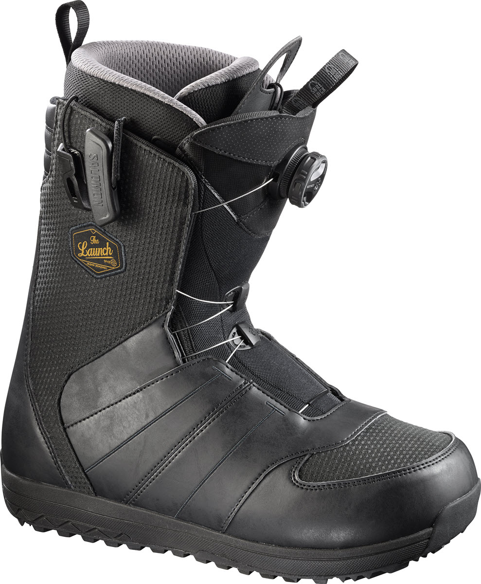 salomon launch boa str8jkt mens snowboard boots black 2017 snowboard boots the board basement. Black Bedroom Furniture Sets. Home Design Ideas