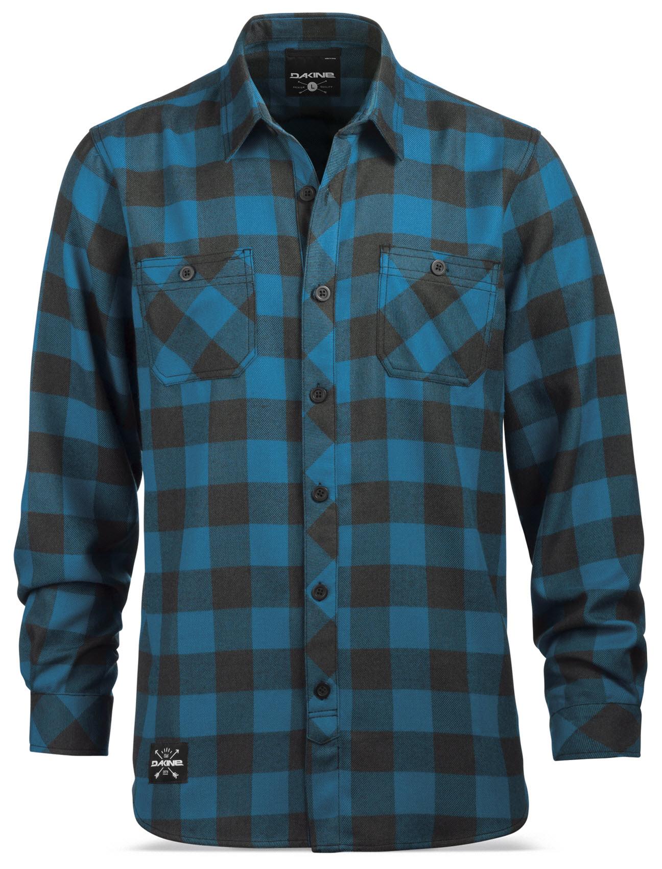 Dakine Shirt - Underwood Flannel Shirt - Button Closure, Odor Control Control Odor Technology 947926