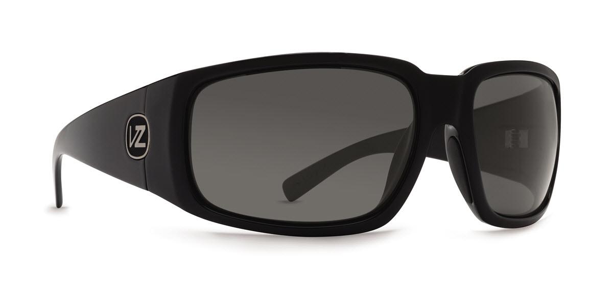 Product image of VonZipper Palooka Sunglasses-Black Gloss-Vintage Grey Lens (SMSFE BKV)