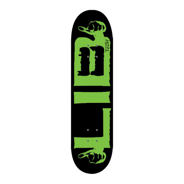 Lib Tech Green logo Pill Skateboard 8.75 x 32
