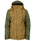 686 Flora Jacket - Girls Youth Snowboard Ski Coat - Leopard Medium Age 10/12