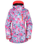 686 Womens Authentic Eden Snowboard Ski Jacket Poppy Small 2017
