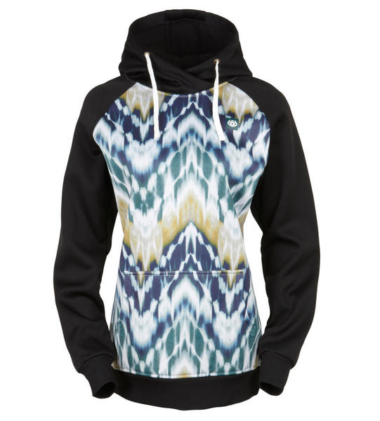 686 Cora Bonded Tech Fleece Womens Top Snowboard Ski - Ikat Small 2017