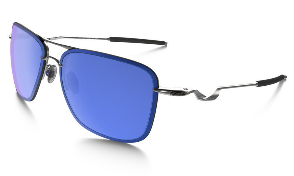 Oakley Tailhook Sunglasses in Satin Chrome with Ice Iridium Lens