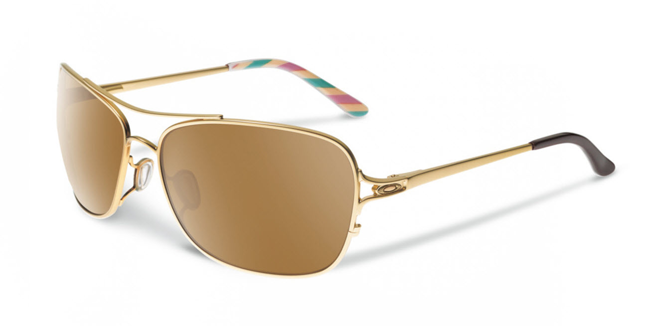 Product image of Oakley Womens Conquest Sunglasses- Satin Gold Iris ,Tungsten Iridium