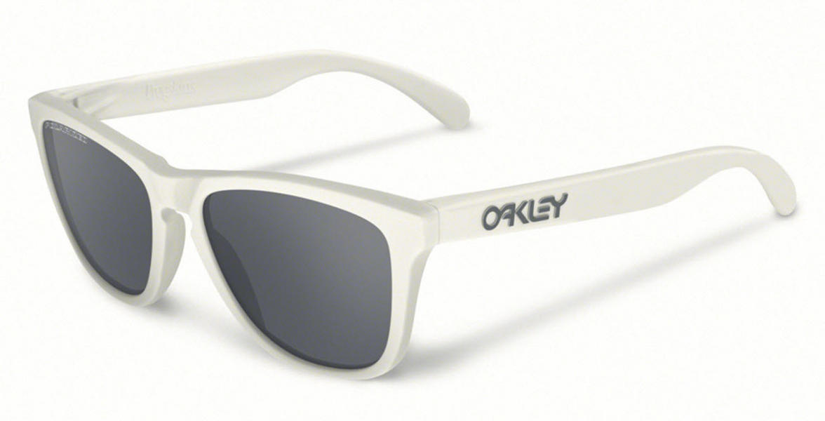 Oakley Frogskins Sunglasses in Matte Cloud with Black Iridium Polarized Lens