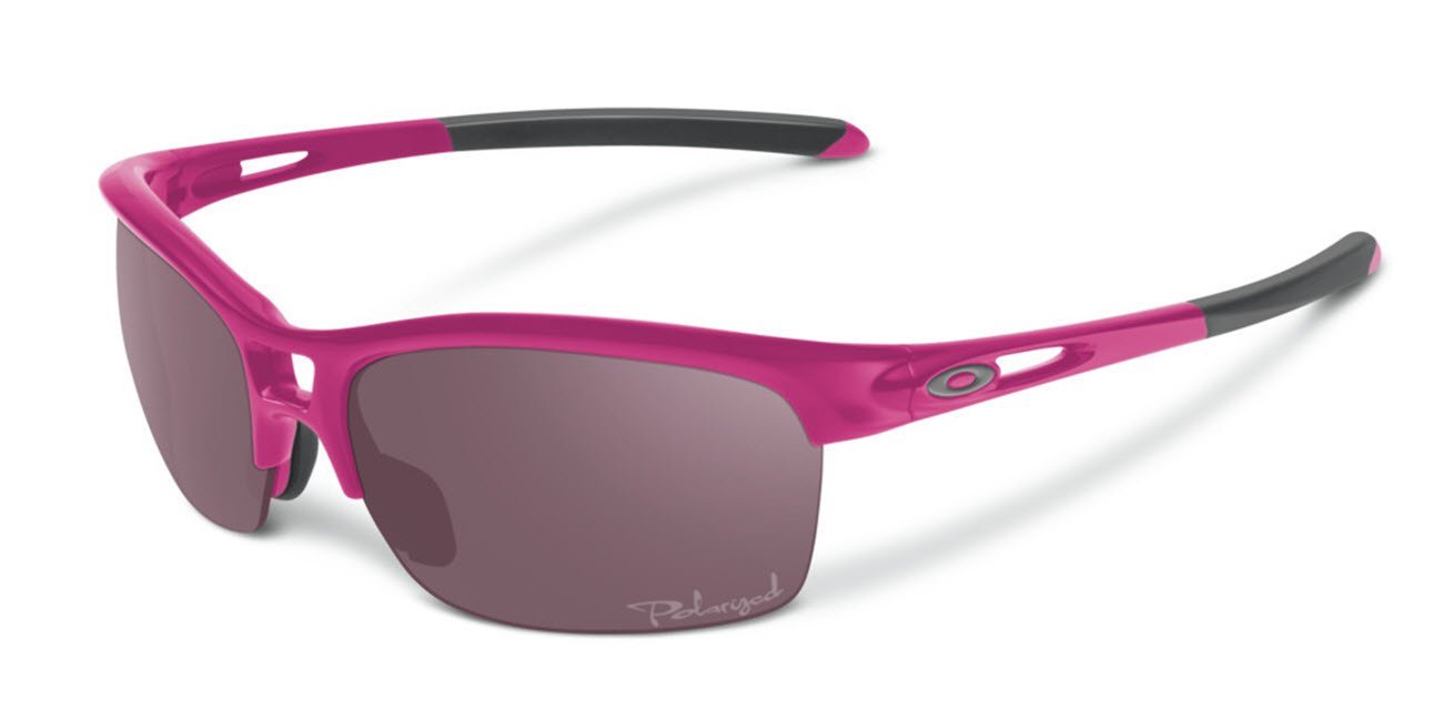 Product image of Oakley Womens RPM Sunglasses in Squared Magenta with OO Grey Polarized Lens