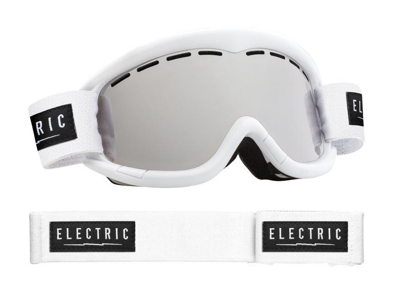 Electric EG1K Kids Snowboard Ski Goggles White Gloss Bronze Silver Chrome Lens
