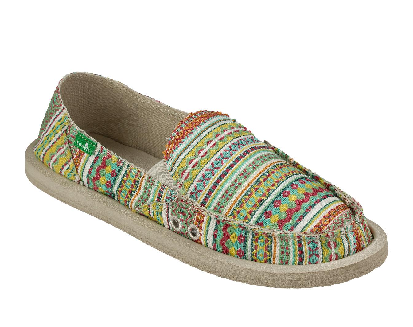 Sanuk Damenschuhe Sandale - Damenschuhe Blanket -  Beach Summer Slippers Sidewalk Surfer