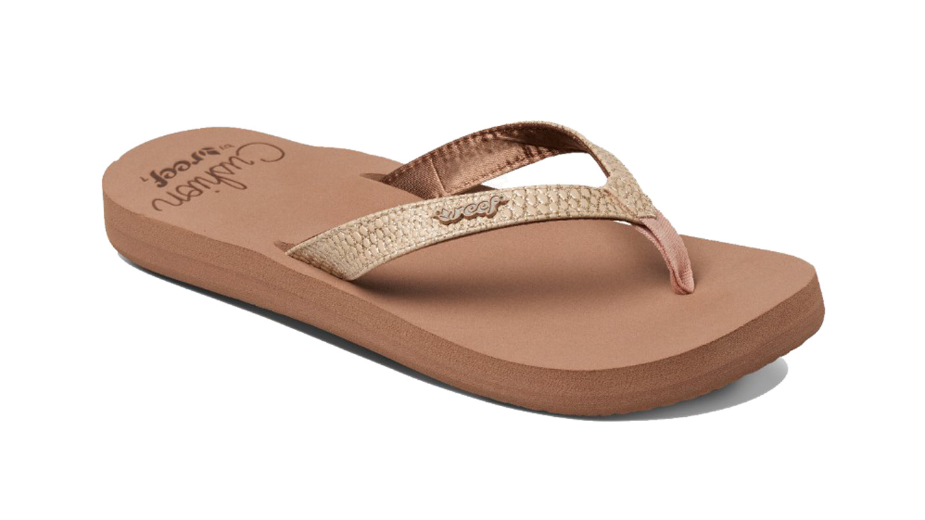 New Women Reef Fanning Brown Pink Stripes Sandals Flip Flops Size 4-9 | EBay