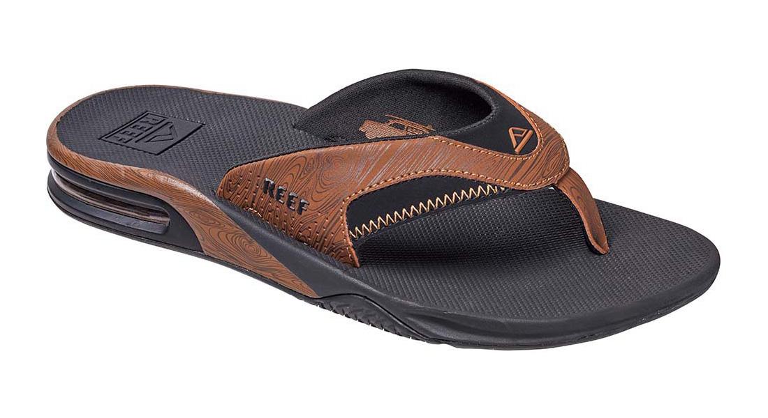 4b7120284eb1 Men s Reef Fanning Vintage Brown 2 Sandals (All Black) - EG350V2
