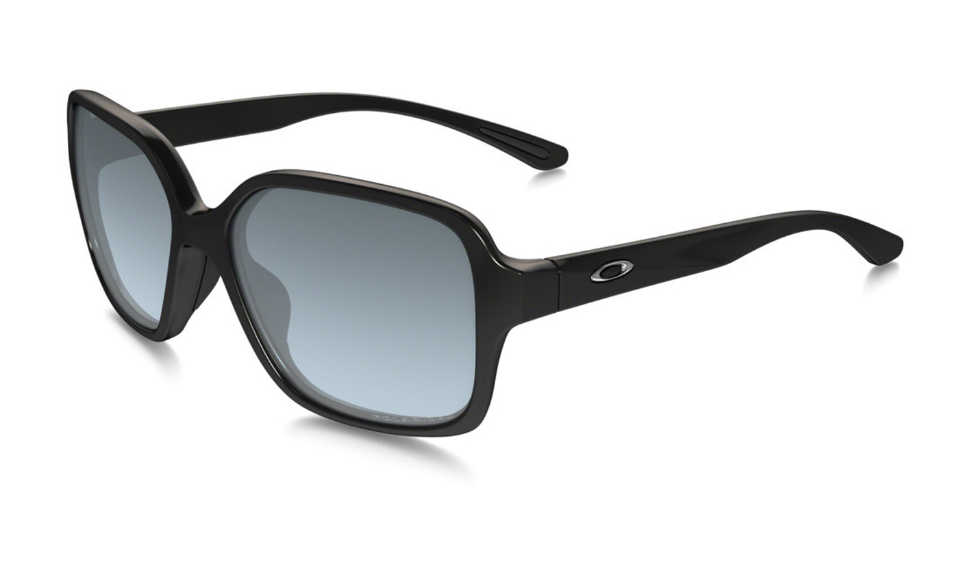 Product image of Oakley Womens Proxy Sunglasses Polished Black with Grey Gradient Polarized Lens