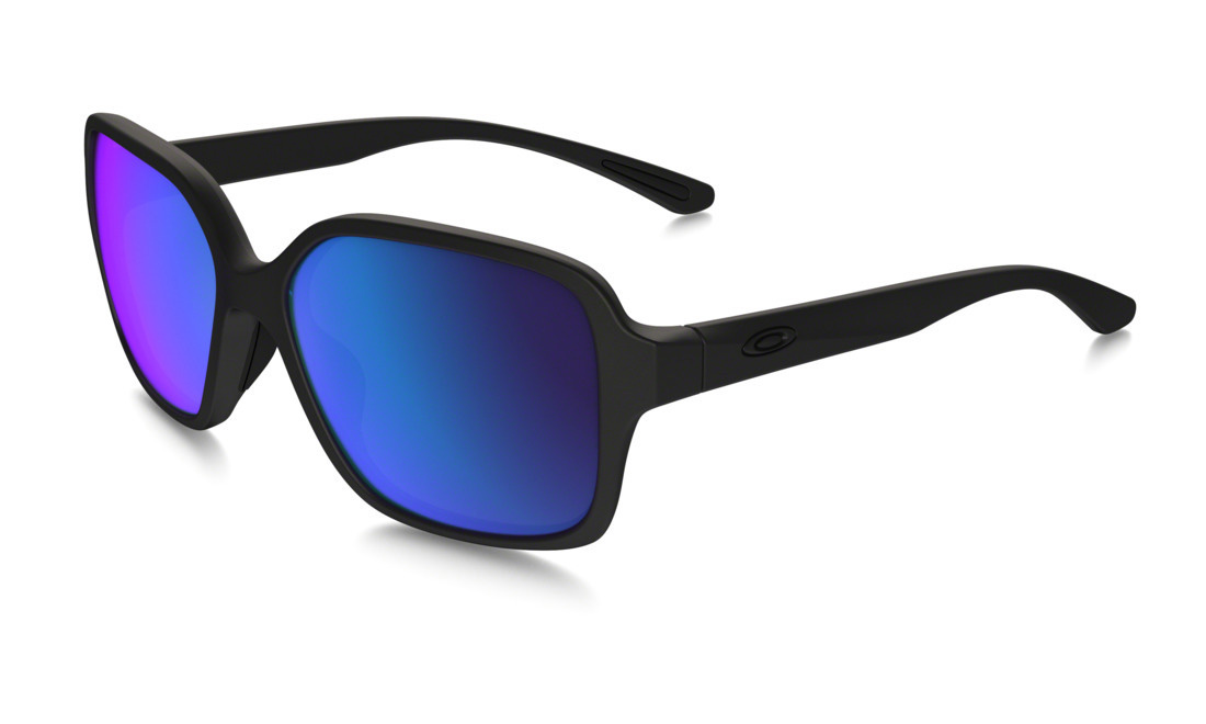 Product image of Oakley Womens Proxy Sunglasses Matte Black with Sapphire Iridium Lens