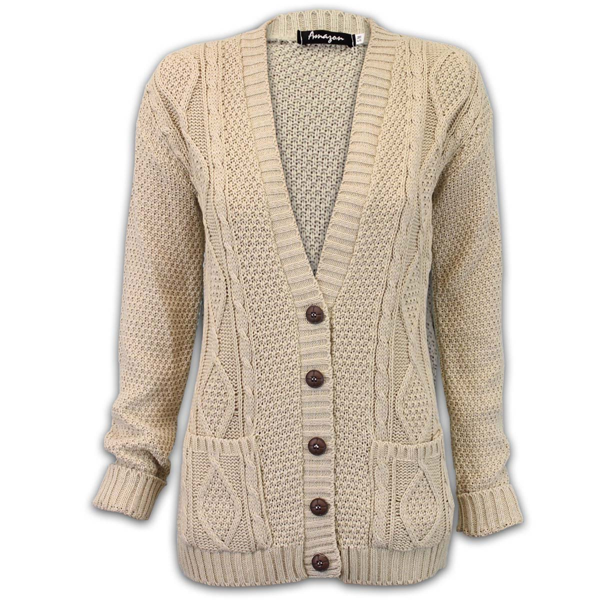 Womens Cable Knit Cardigan Sweaters Hooded Open Front Buttons Closure Outerwear. from $ 37 99 Prime. out of 5 stars PattyBoutik. Women's Mock Neck Cable Knit Cardigan $ 53 99 Prime. out of 5 stars Simplee Apparel. Simplee Women's Casual Open Front Long Sleeve Knit Cardigan Sweater Coat with Pockets.