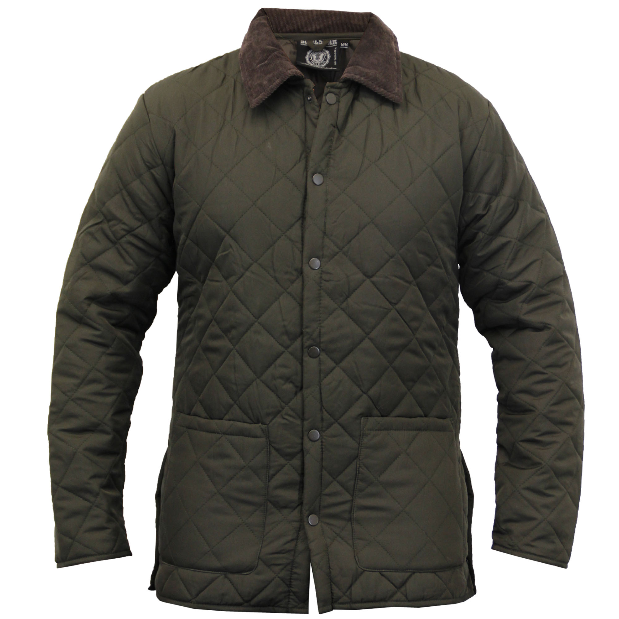 Mens Jacket Soul Star Coat Padded Quilted Corduroy Brave