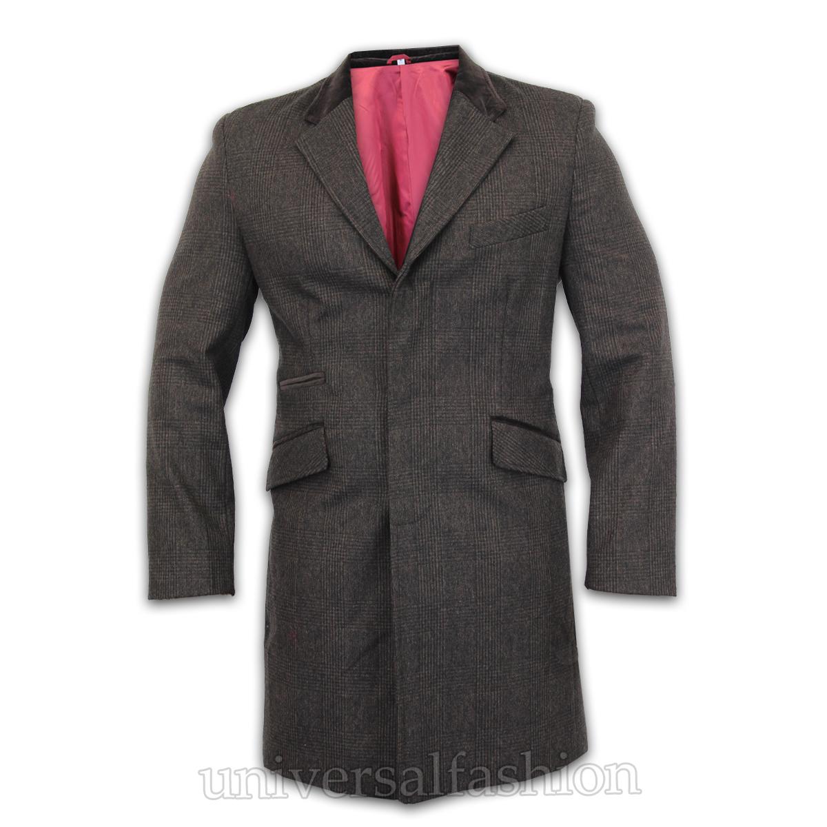 Homme manteau veste en laine cachemire d contract outerwear pardessus trench doublure hiver ebay - Veste homme decontracte ...