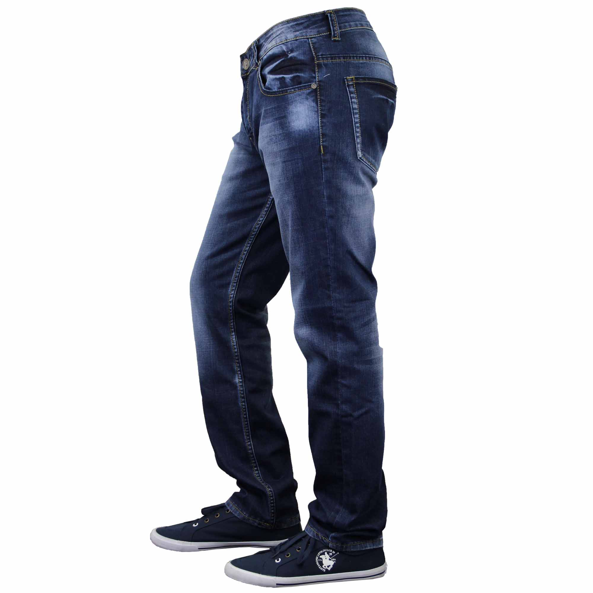 Mens Jeans Soul Star Denim Straight Fit Trousers Fashion Faded  Dark Casual New
