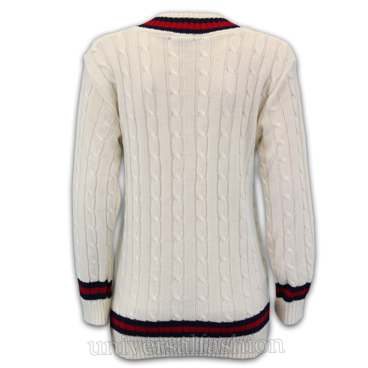 Knitting Pattern For Cricket Sweater : Ladies Womens Knitted Cricket Jumper Sweater