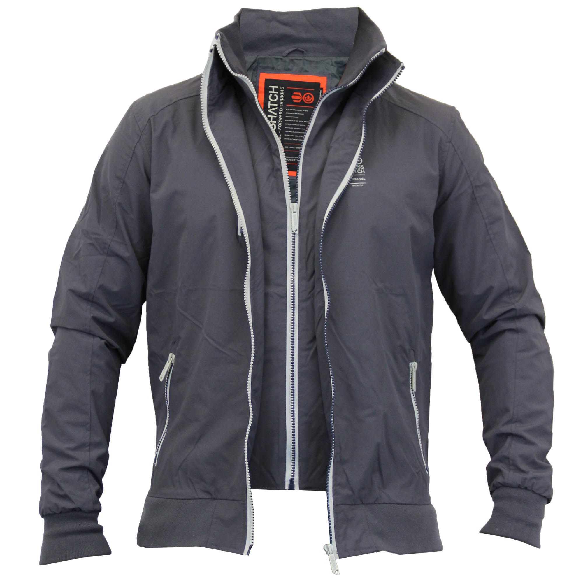 Mens Windbreaker Double Layer Jacket/Coat By Crosshatch