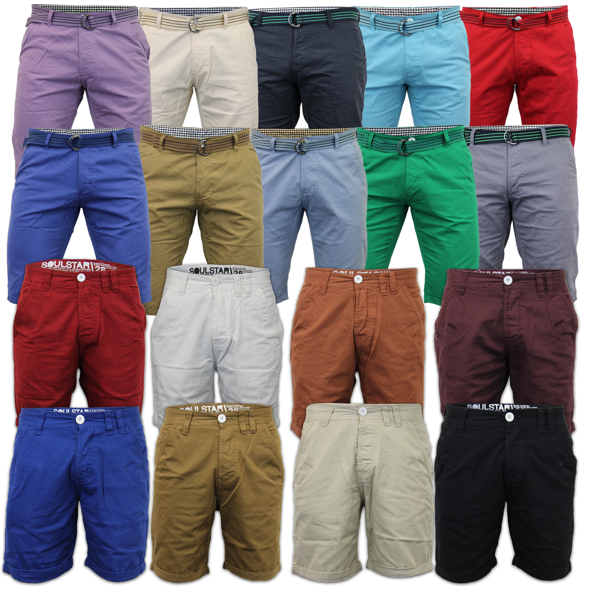 Boys Shorts Soul Star Kids Chino Summer Half Pants Roll Up Cotton ...