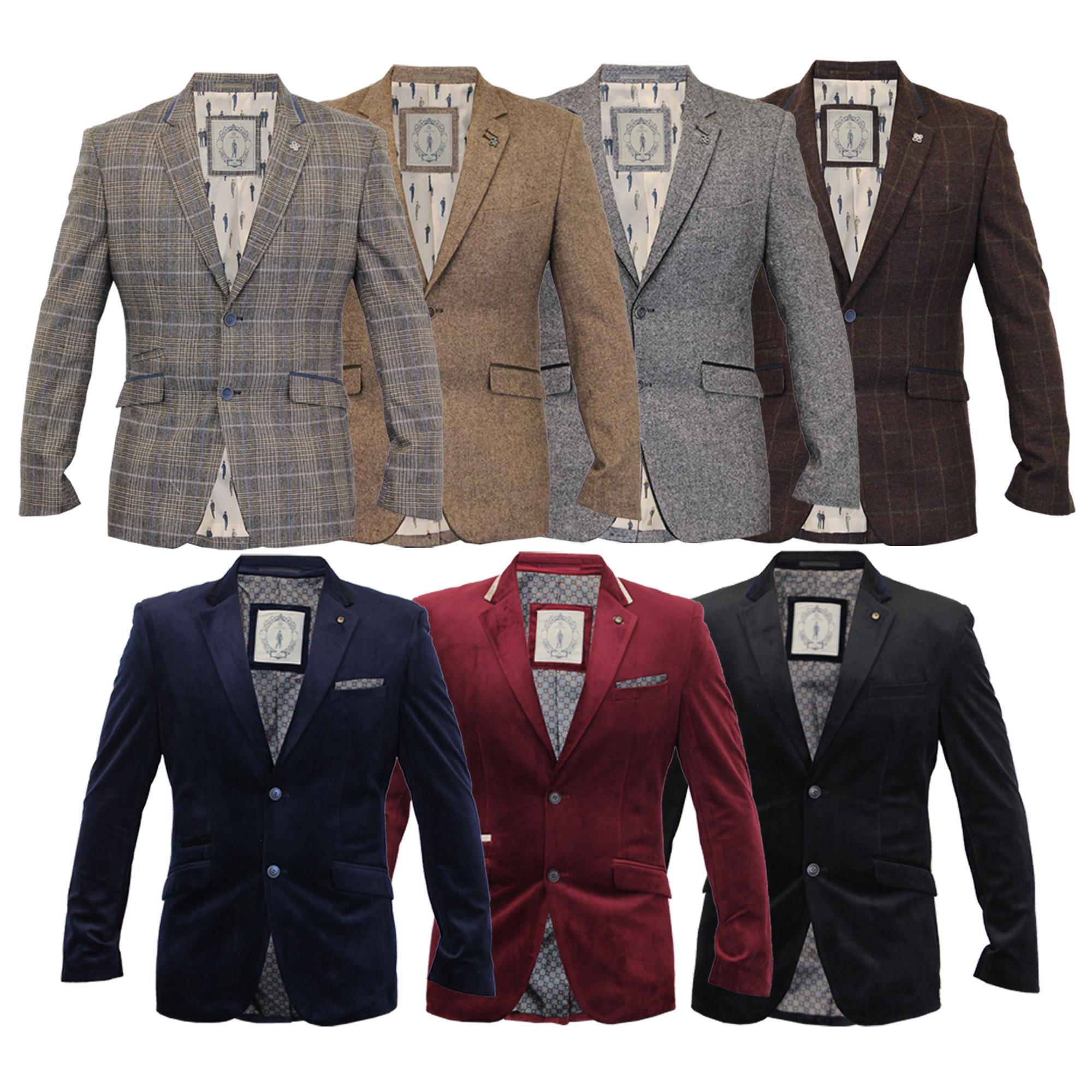 Mens Blazer Cavani Coat Dinner Suit Jacket Herringbone ...