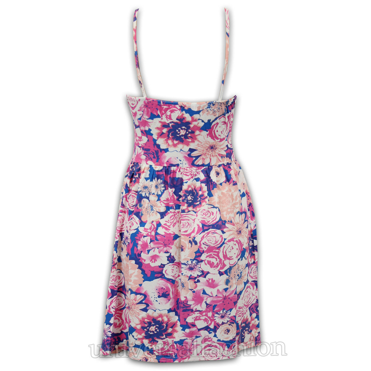 Ladies CamiSole Dress Women Skater Sam Faiers Towie Floral Print Flared Mini New