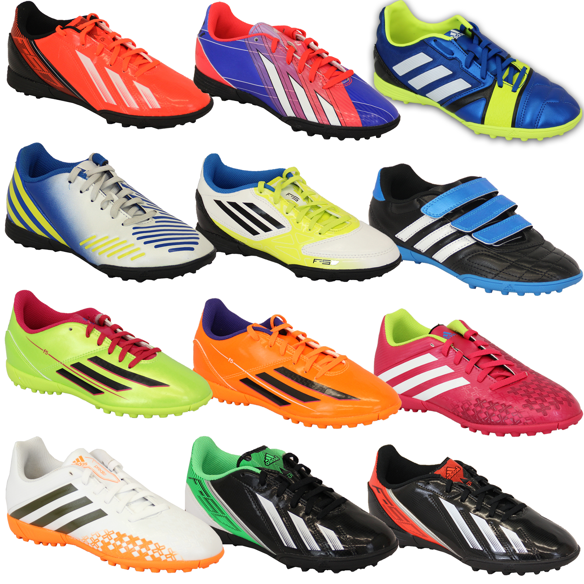 Boys ADIDAS Trainers Kids Football Soccer Astro Turf Shoes Lace Up ...