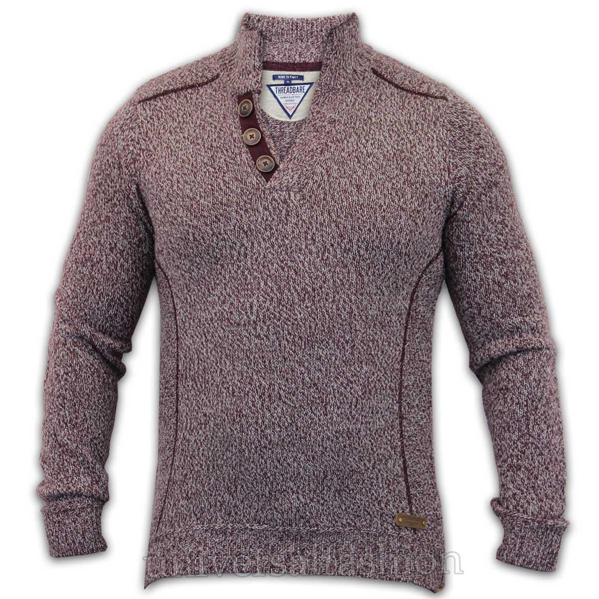 Hombre-Jersey-Threadbare-Mezcla-De-Lana-Punto-Sueter-Informal-Invierno-NUEVO