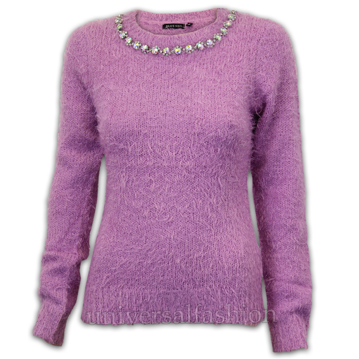 Soft and warm fluffy ladies sweater with pattern detail. A cosy option with jeans or smarter separates. Winter perfect knit ; Easy care ; Goes with so many things; Soft and warm fluffy knit with pattern detail. Regular fit. Machine washable. 60% Polyamide, 20% Acrylic, 20% Polyester. Length: 64cm (25inch) approx. Soft and warm fluffy knit with pattern detail.