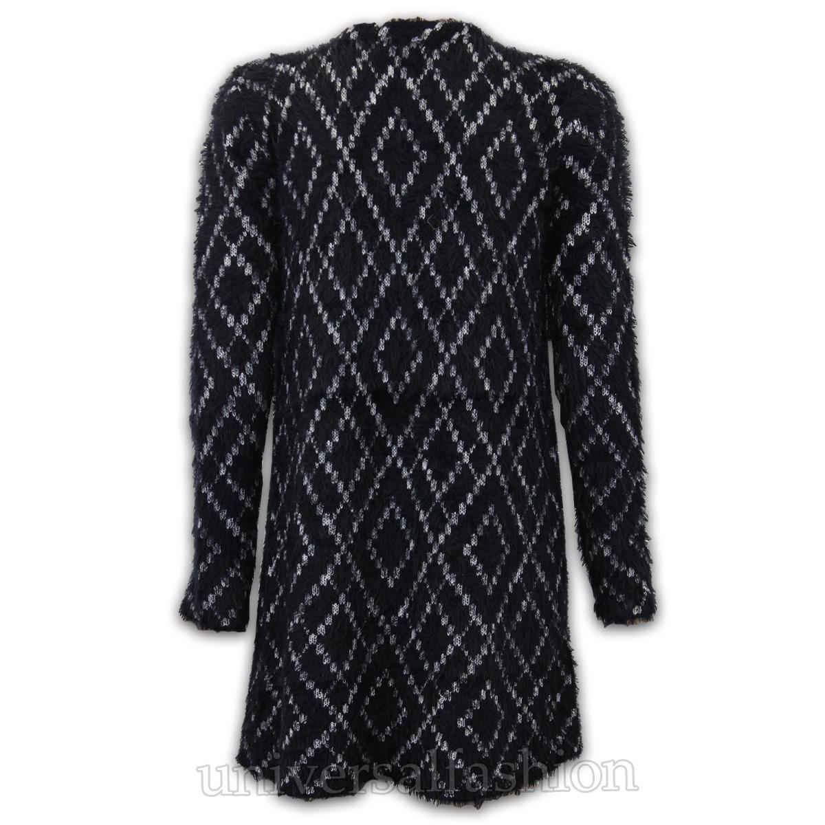 Ladies Cardigan Brave Soul Mohair Womens Knitted Boyfriend Eyelash Casual Winter