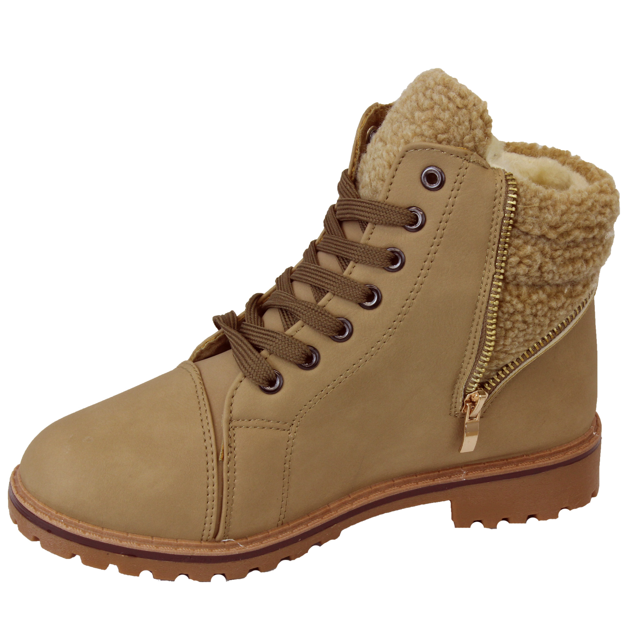 boots womens shoes high ankle lace up