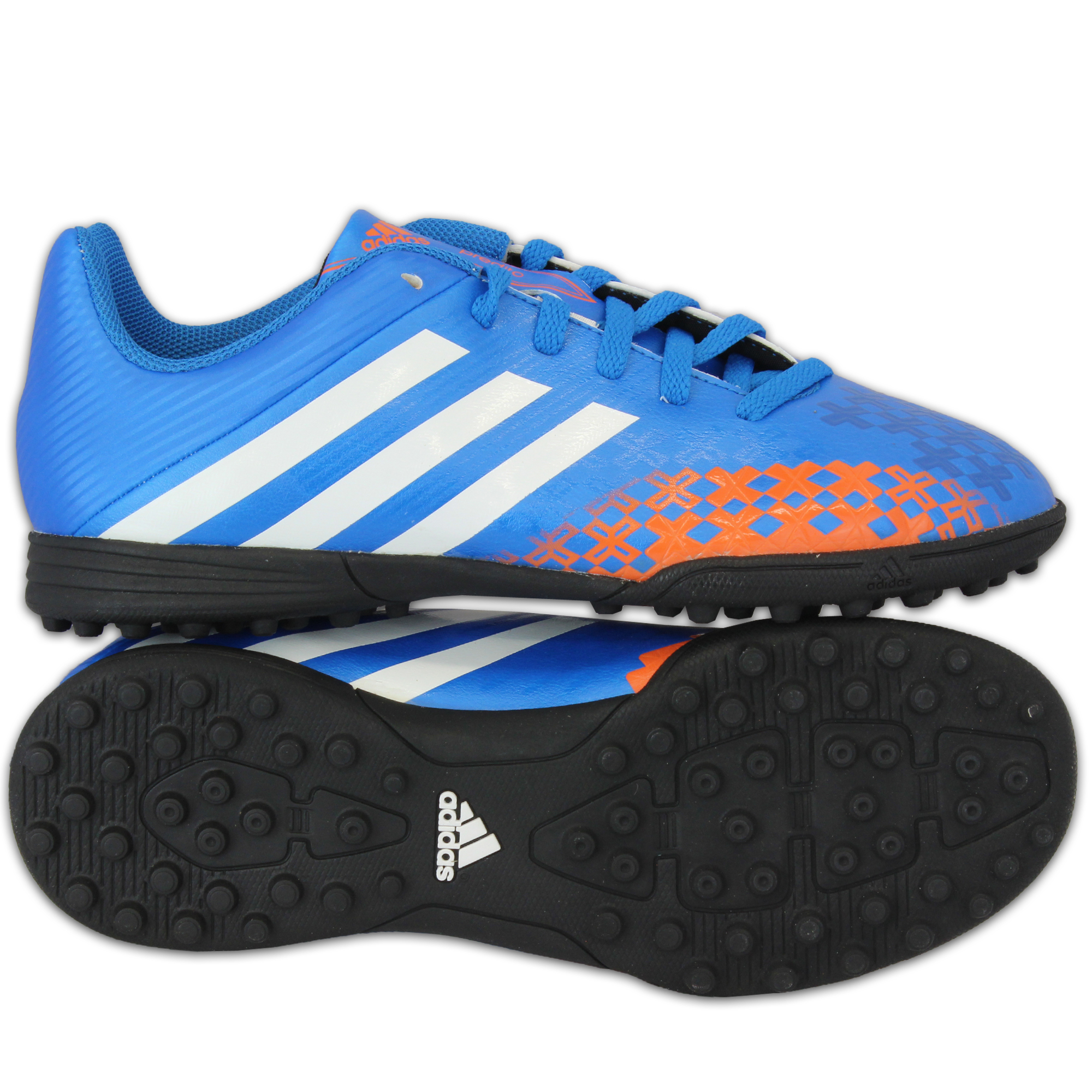 10a3d0911 Boys ADIDAS Trainers Kids Football Soccer Astro Turf Shoes Lace Up Neon  Youth