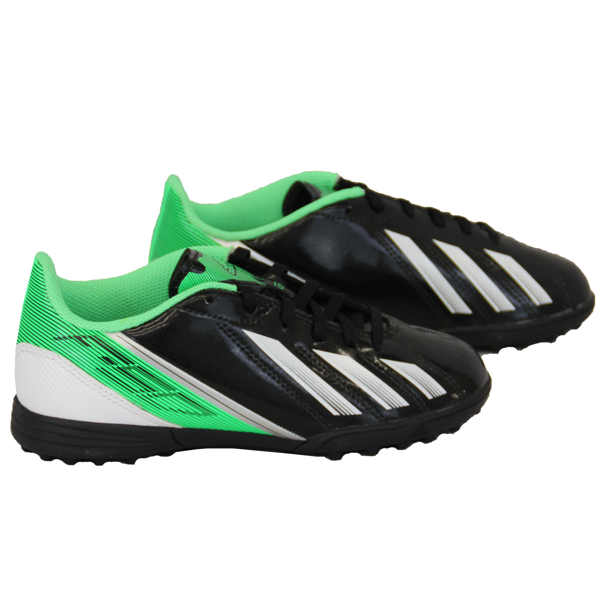 Boys ADIDAS Trainers Kids Football Soccer Astro Turf Shoes Lace Up Neon Youth
