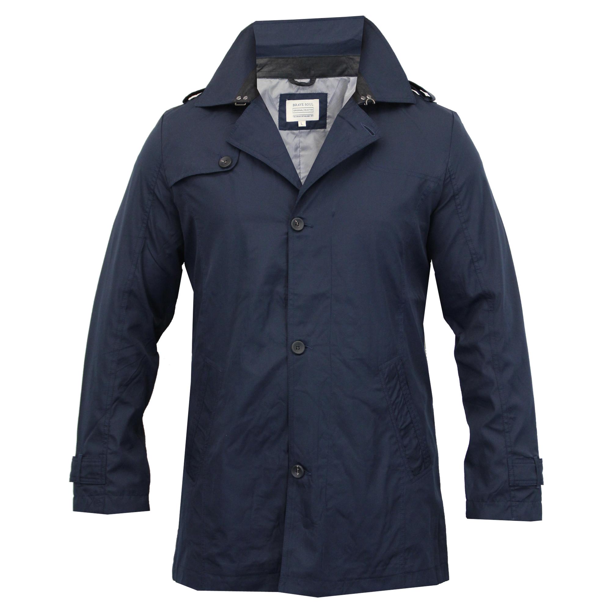 Homme brave soul veste col manteau trench bouton paulette ext rieure doubl d contract smart - Veste homme decontracte ...