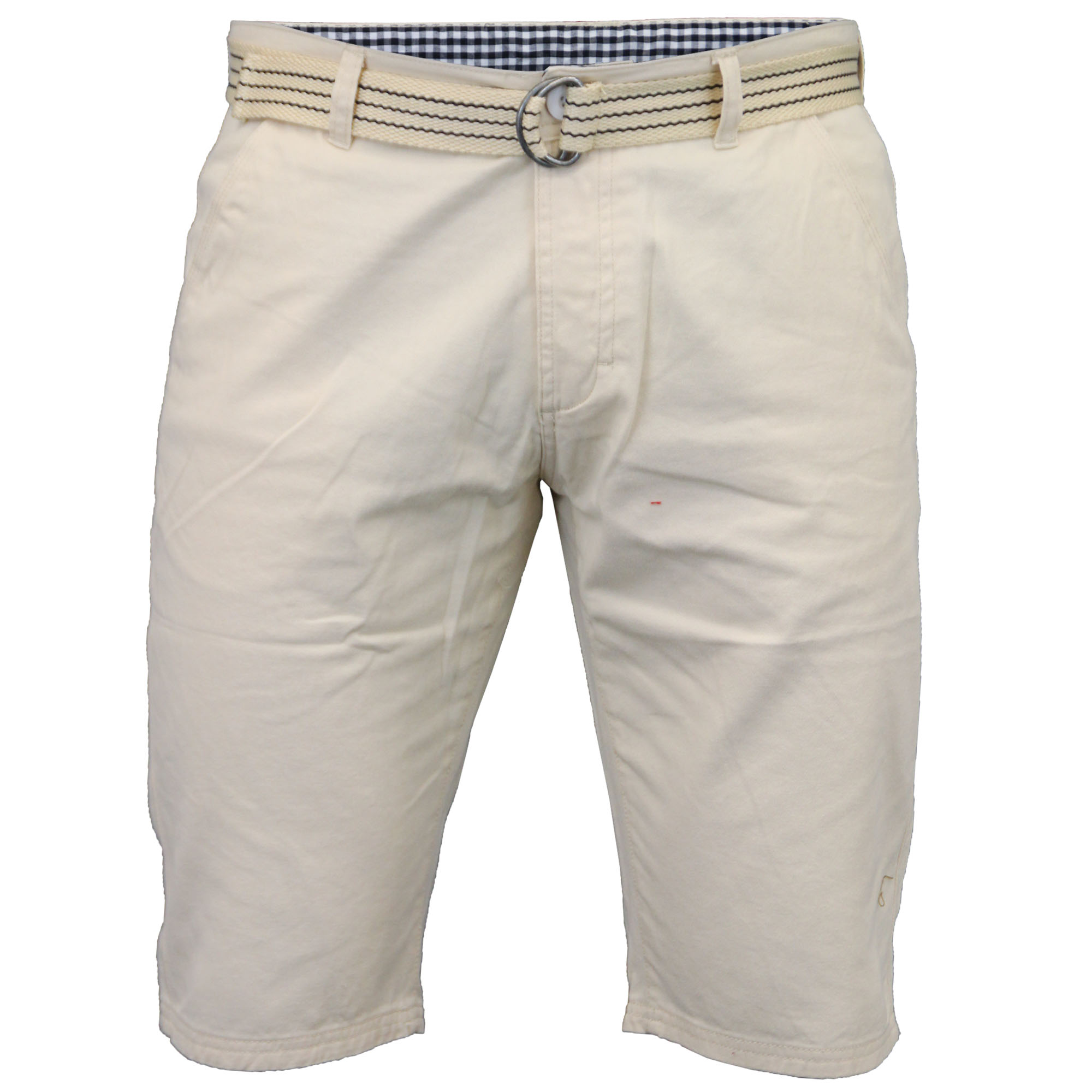 Mens Chino Shorts Kushiro Bottoms Denim Knee Length Free BELT ...