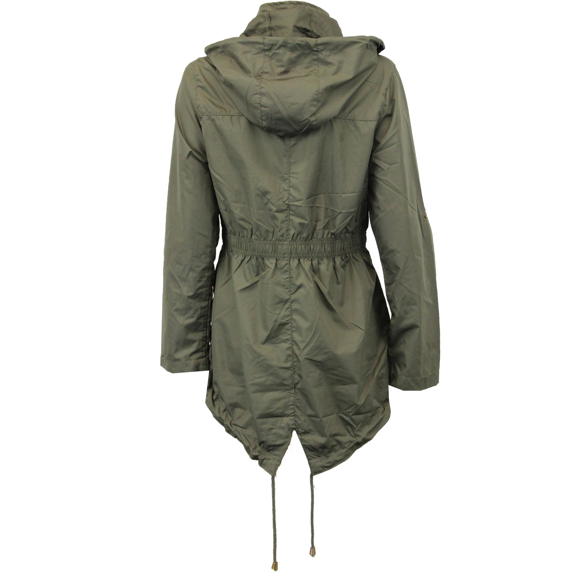 Ladies Jacket Brave Soul Womens Coat Hooded Fish Tail Kagool ...