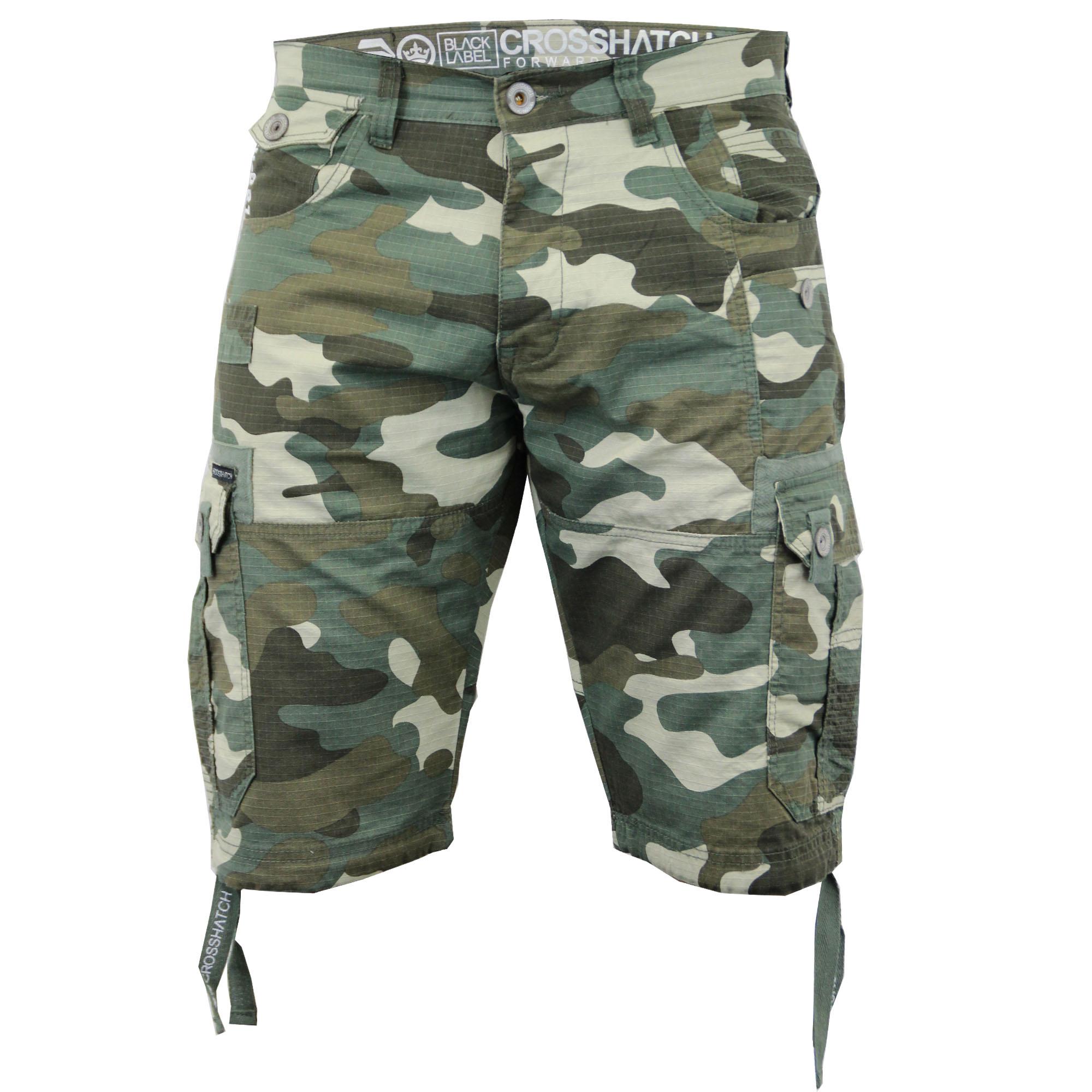 short homme crosshatch camouflage militaire cargo combat. Black Bedroom Furniture Sets. Home Design Ideas