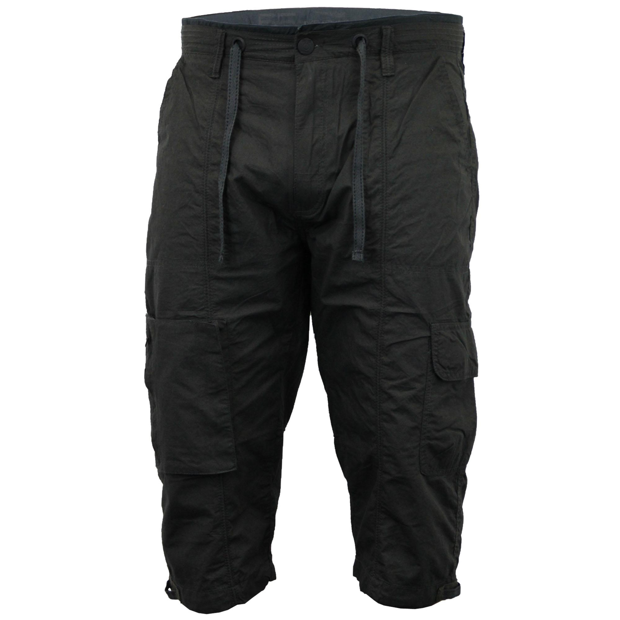 Mens Shorts 55 Soul Combat Cargo Bottoms Half Pants 3 4 ...