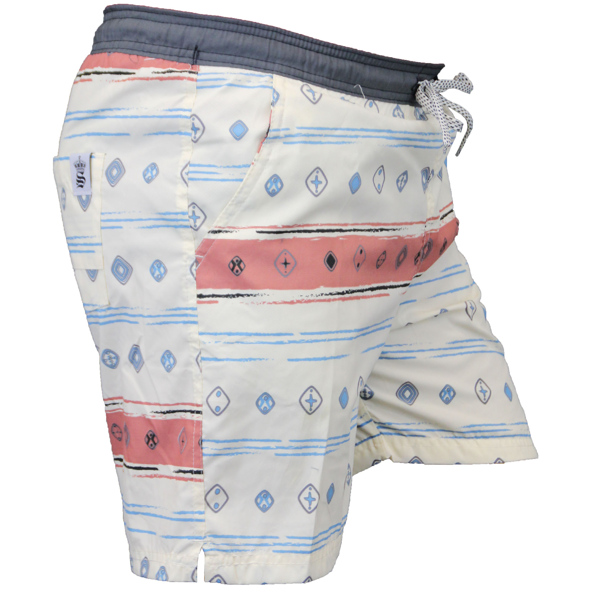 Mens Swimming Shorts Soul Star Aztec Print Trunks Beach Mesh Summer Casual New